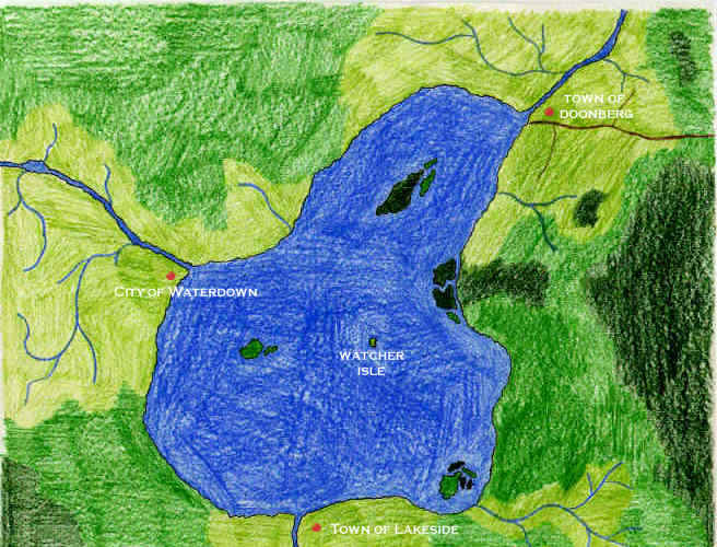 Nevan Lake Close-up Map